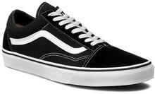 Vans Tenisówki - Old Skool VN000D3HY28 czarno-biały materiał, skóra naturalna - l