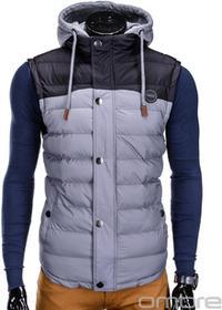 Ombre Clothing BEZRĘKAWNIK V26 - SZARY