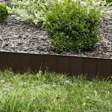 Prosperplast Palisada ogrodowa obrzeże 5,9m x 16cm Garden Fence Ciemny Brąz IKRR