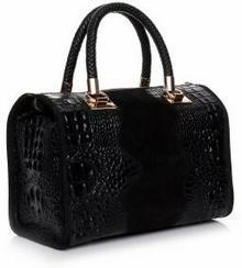 Genuine Leather Elegancki kufer skórzany Aligator Czarny (kolory) A4cza