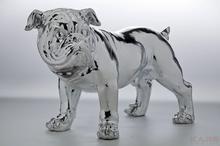 Kare Design Figurka Dekoracyjna Bulldogge Silver Eco 42cm - 33060