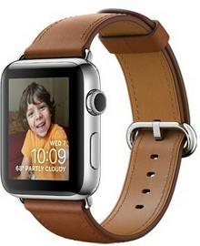 Apple Watch 2 42 mm Stal / Brązowy