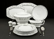 Villa & Tavola Silver Rose Serwis obiadowy 12/43 5306