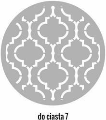 Szabloneria Szablon malarski z tworzywa do ciasta 7 Marokański wzór średnica 25cm