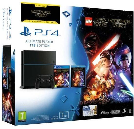 Sony PlayStation 4 1TB Czarny + LEGO Star Wars: The Force Awakens
