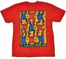 Alien Workshop koszulka - Haring Stacked Red (CERVENA)