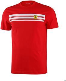 Ferrari F1 Koszulka Mens Striped Tee - Red 3
