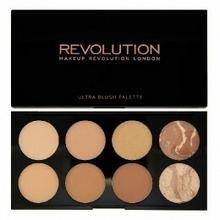 Makeup Revolution Blush Palette 8 Zestaw bronzerów i rozświetlaczy All About Bronze 13g Z oficjalnej polskiej dystrybucji