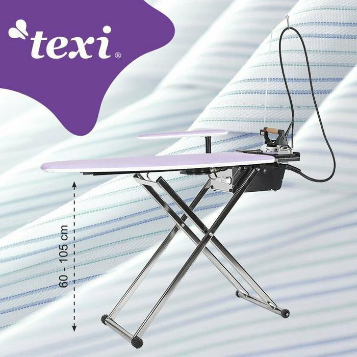 Texi Deska do prasowania Smart S+B z automatyczną wytwornicą pary i żelazkiem.