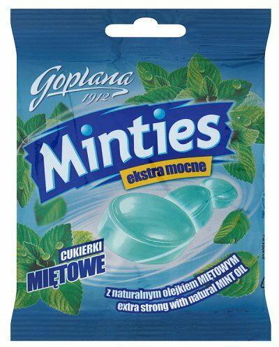 Goplana Cukierki miętowe Minties ekstra mocne 90 g