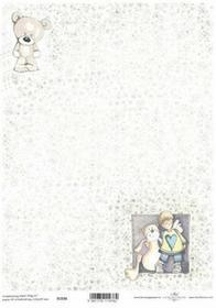 ITD Papier do scrapbookingu 250g A4 - 036 aniołek