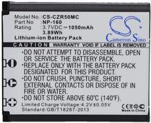 Cameron Sino Casio Exilim EX-ZR50 / NP-160 1050mAh 3.89Wh Li-Ion 3.7V () CS-CZR50