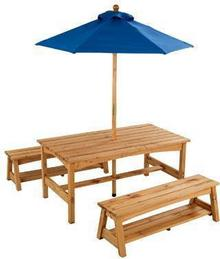 Kidkraft Stolik Piknikowy z parasolem