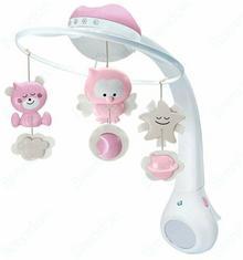 B-Kids Karuzela muzyczna Projektor i Lampka nocna różowa 3w1 4914