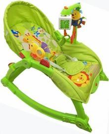 Baby Mix Leżaczek 2W1 Z Muzyką Tt-130824 Zielony Alexis 38883