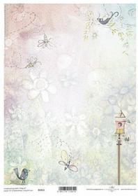 ITD Papier do scrapbookingu 250g A4 - 011 kwiaty