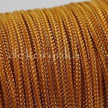 Sznurek metalizowany 2m - złoty/oranż #31023