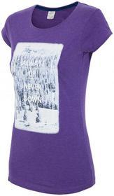 4F [T4Z16-TSD004] T-shirt damski TSD004 fioletowy [T4Z16-TSD004] Womens T-shirt TSD004 violet