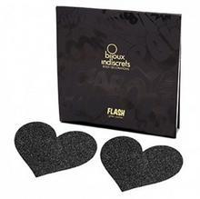 Bijoux Indiscrets Naklejki na sutki - Flash Heart Black Czarne Serce BU004A [5707953]