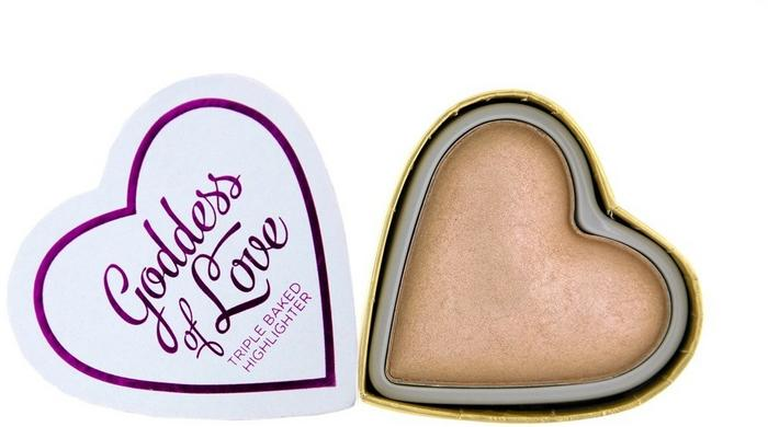 Revolution Makeup Revolution Makeup Goddess of Love Hearts Rozświetlacz do twarzy Goddess of Faith 10 g