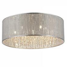 Zuma Line Kryształowa LAMPA sufitowa BLINK C0173-07W okrągła OPRAWA plafon crystal chrom przezroczysta
