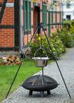 Korono Kociołek węgierski ze stali nierdzewnej na trójnogu 180 cm poj. 14 l