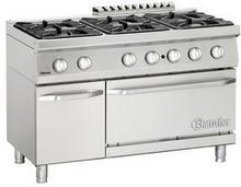 Bartscher 6-palnikowa kuchnia gazowa z piekarnikiem gazowym 2/1 GN