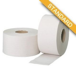 POLJAR Papier toaletowy celuloza JUMBO ROLL 2-warstowy biały 1 sztuka JAR002