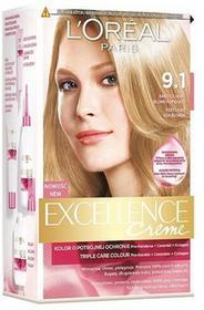 Loreal Excellence Creme Krem koloryzujący 9.1 bardzo jasny blond popielaty