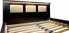 Laris Polska Łóżko drewniane Jofi z podświetleniem 120x200