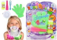 Lean Toys Zestaw bańki mydlane magiczna rękawica