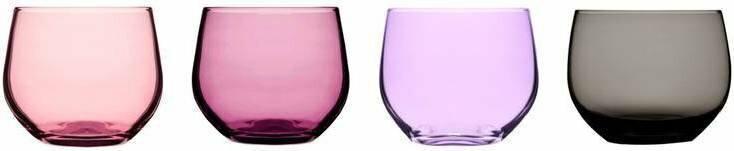 Sagaform szklaneczki, różowe, 350 ml, 4 szt. 5016227