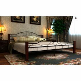 vidaXL Podwójna rama łóżka 160x200 cm czarny metal