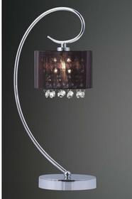 Italux Stojąca LAMPA stołowa SPAN MTM1583/1 abażurowa LAMPKA kryształowa organza mgiełka chrom czarny MTM1583/1 BK