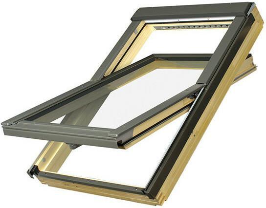 Fakro okno dachowe drewniane obrotowe FTP-V U3 z nawiewnikiem 55x78 FAOKFTP-V05