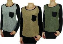 INNA MARKA Śliczny sweter Bluzka Pętelkowa na Jesień