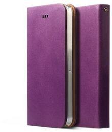 Zenus Signature Diary Case/Tasche Lila für Apple iPhone 5/5S