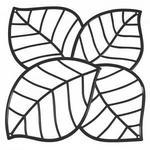 Koziol Panel dekoracyjny - - Leaf czarny
