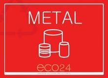 Naklejka eko na kosz na śmieci segregacja śmieci A4 Metal
