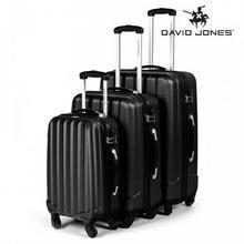 David Jones Zestaw walizek podróżnych 3w1 czarne