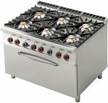 RM Gastro Kuchnia gazowa z piekarnikiem gazowym 3x GN 1/1 CF6 - 912 G