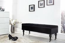 Interior Ławka ze skrzynią Gloria Modern Baroque - czarna - czarny