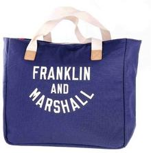 FRANKLIN & MARSHALL Torba - Varsity shopper - dark blue solid (25)