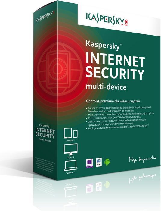 Kaspersky Internet Security - Multi-Device (2 stan. / 1 rok) - Nowa licencja