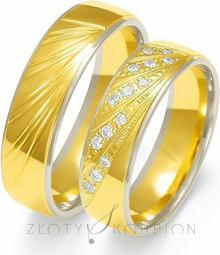 Złoty Skorpion Obrączki ślubne - wzór Au-OE225