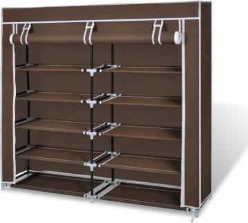 p ka szafka na buty z materia u 115 x 28 x 110 cm br z. Black Bedroom Furniture Sets. Home Design Ideas