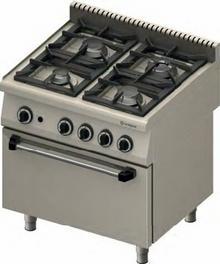 Stalgast Kuchnia z piekarnikiem gazowym 971013 4-palniki (3,5+2x5+7)