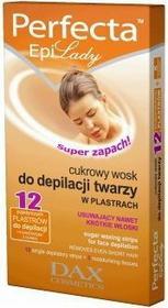 DAX Cosmetics Cukrowy wosk do depilacji twarzy w plastrach