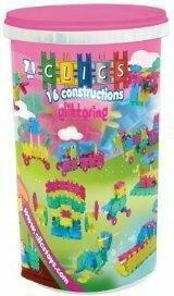 Clics 16 konstrukcji Glitter w tubie CK025