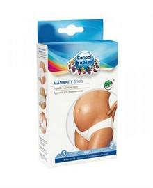 Canpol babies figi dla kobiet w ciąży wycięte pod brzuchem bawełniane białe M 26/205 -